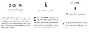 Book formatting templates for Createspace